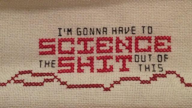 Science cross stitch