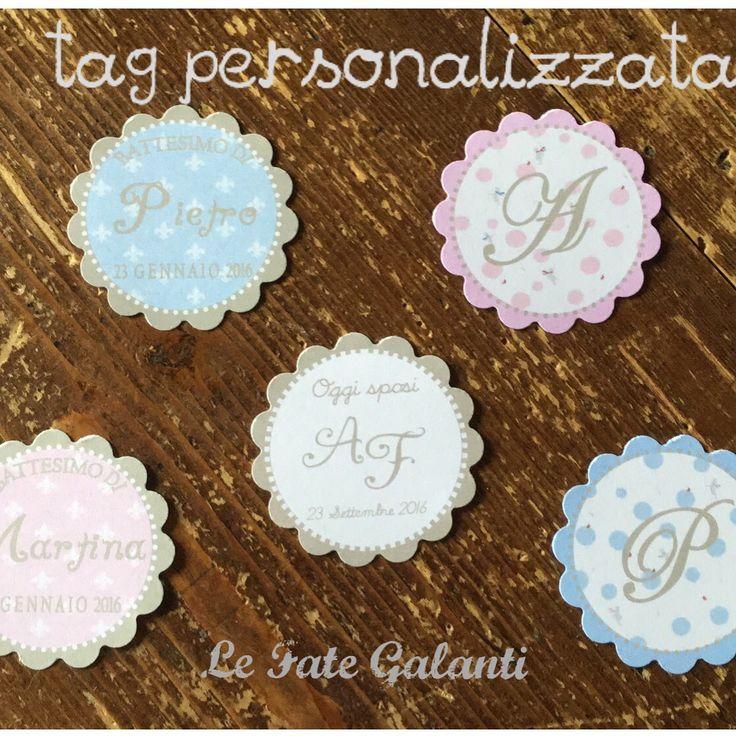 Le Fate Galanti: tag personalizzati con o senza foro