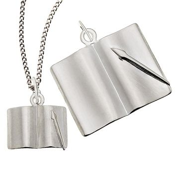 Pendant or Charm - FOREVER WRITTEN  - Sterling Silver or 9ct Gold