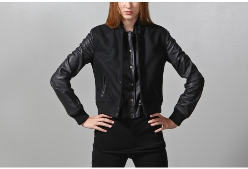 women's double front varsity jacketWomen Double, Front Varsity, Varsity Jackets, Oak Women, Jackets Oak, Fall Jackets, Leather Jackets, Double Front, Oak Double