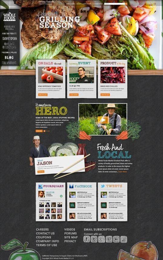 Whole Foods.  #webdesign #it #web #design #layout #userinterface #website #webdesign