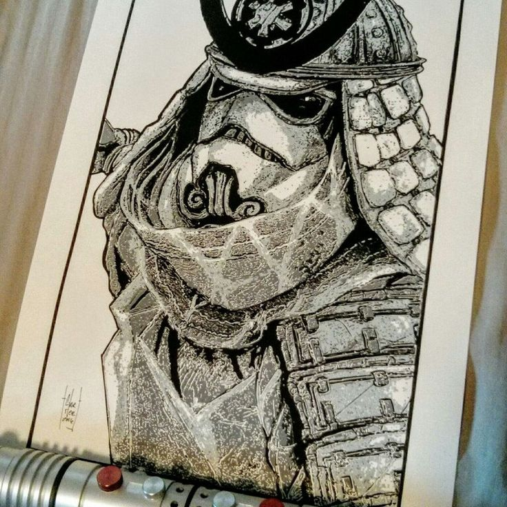 "Another satisfied supporter sent us a pic of the Samurai Stormtrooper screen print poster he just received saying : ""this one is going straight on the wall"". We love seeing your pics. Keep 'em coming!"