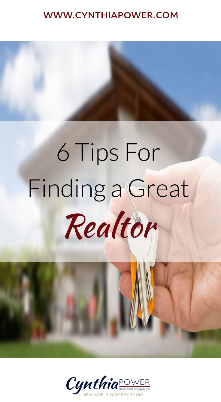 6 Tips for Finding a Great Realtor