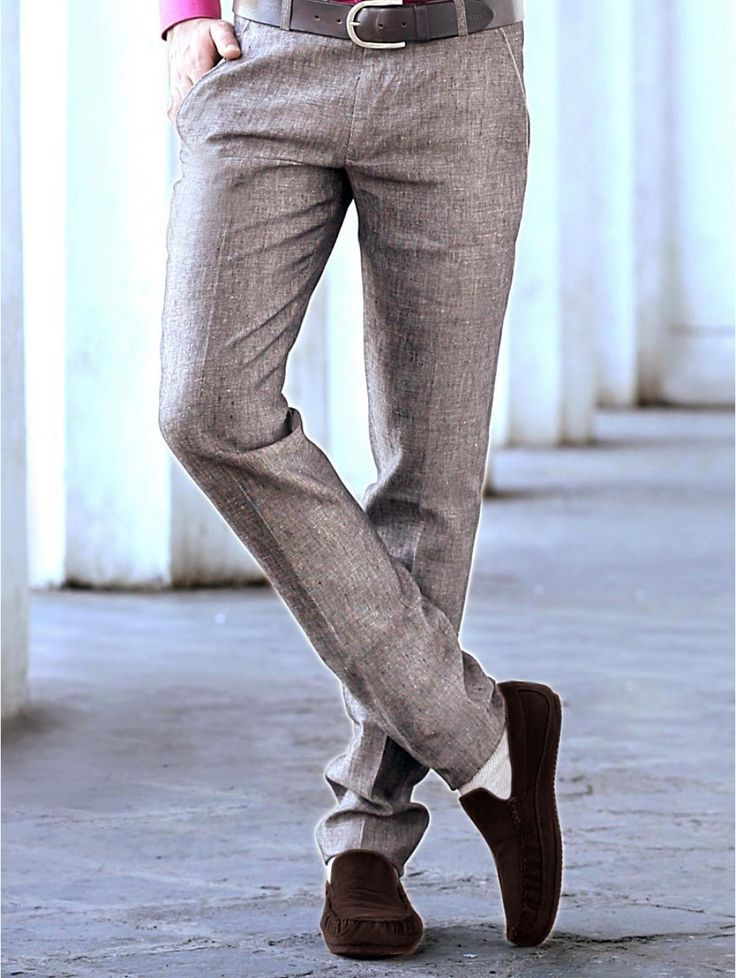 Grey Linen #Trouser will make you look every bit of a dapper when worn with a plain shirt and loafers. Item Code : TKT2970B http://www.lalitkhatri.com/label/men/trousers.html