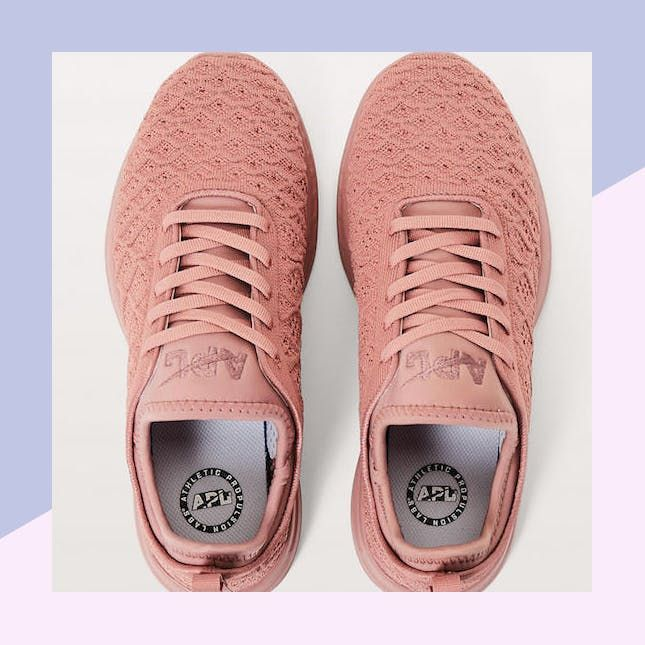 Lululemons Exclusive New Sneaker Collection Includes a Millennial Pink Shoe, Because Duh via Brit + Co
