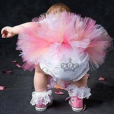 Love the pink baby converse and ruffled socks!