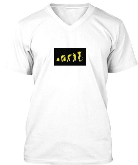 Alien White T-Shirt Front