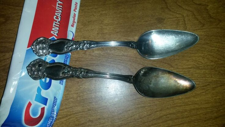 Use regular tooth paste to clean silver silverware and