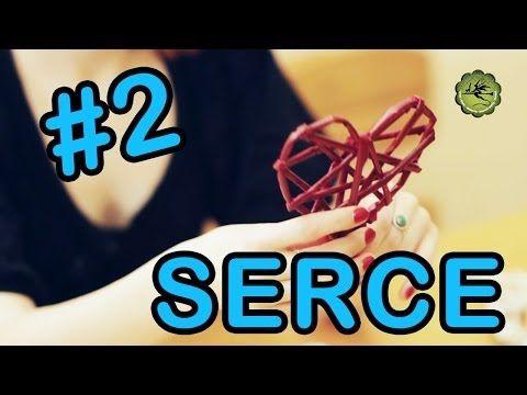 Ozdoby #2 - serce z papierowej wikliny - YouTube
