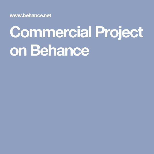 Commercial Project on Behance