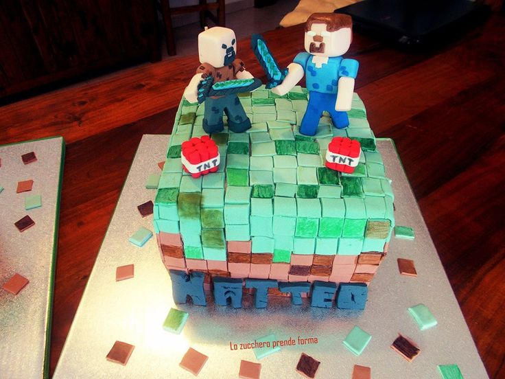 Torta Minecraft Matteo