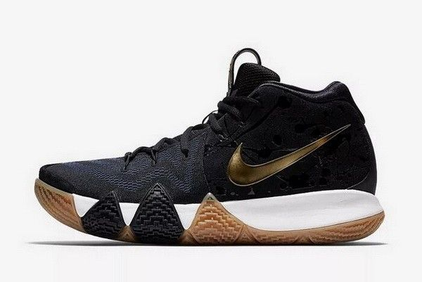 87b9beff8c7 Mens Nike Kyrie 4 Pitch Blue Metallic Gold Basketball Shoes 943807 ...