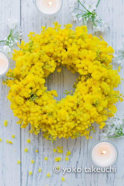 Mimosa wreath #8marzo #woman #essenzadiriviera.com