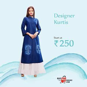 Explore a stunning range of designer Kurtis at Makemyorders.com: https://goo.gl/MF8wY4 For any query WhatsApp us at +91 99583 67518 #Makemyorders #kurtis