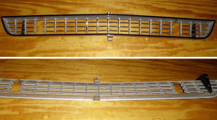 Front Grill 1966 1967 Corvette Driving Quality Tabs Brackets Pitting Grille vtg