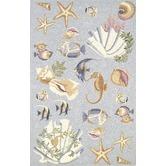 Beach themed rug for my dream beach inspired bathroom @HansgroheUSA #BathroomDreams  Pinned via pinmarklet