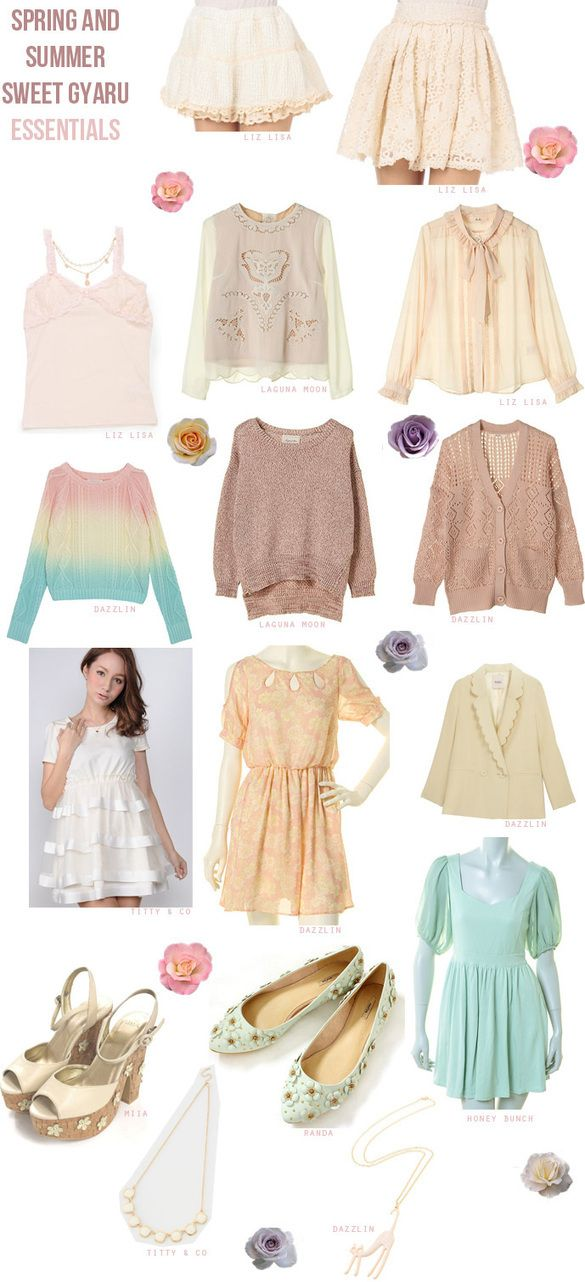 Milky Pastel Color Mixing Trends & Sweet Style Gyaru Styling ...