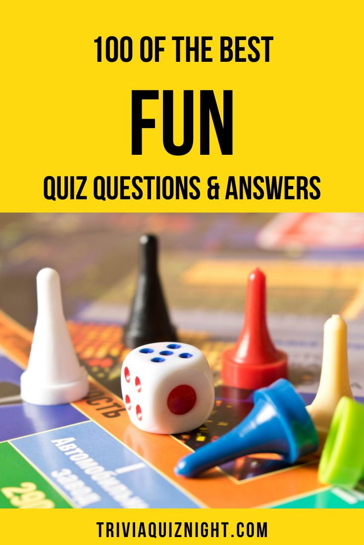 100 Fun Quiz Questions and Answers | Trivia Quiz Night ...