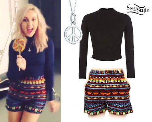 Perrie Edwards: Aztec Print Shorts | Steal Her Style