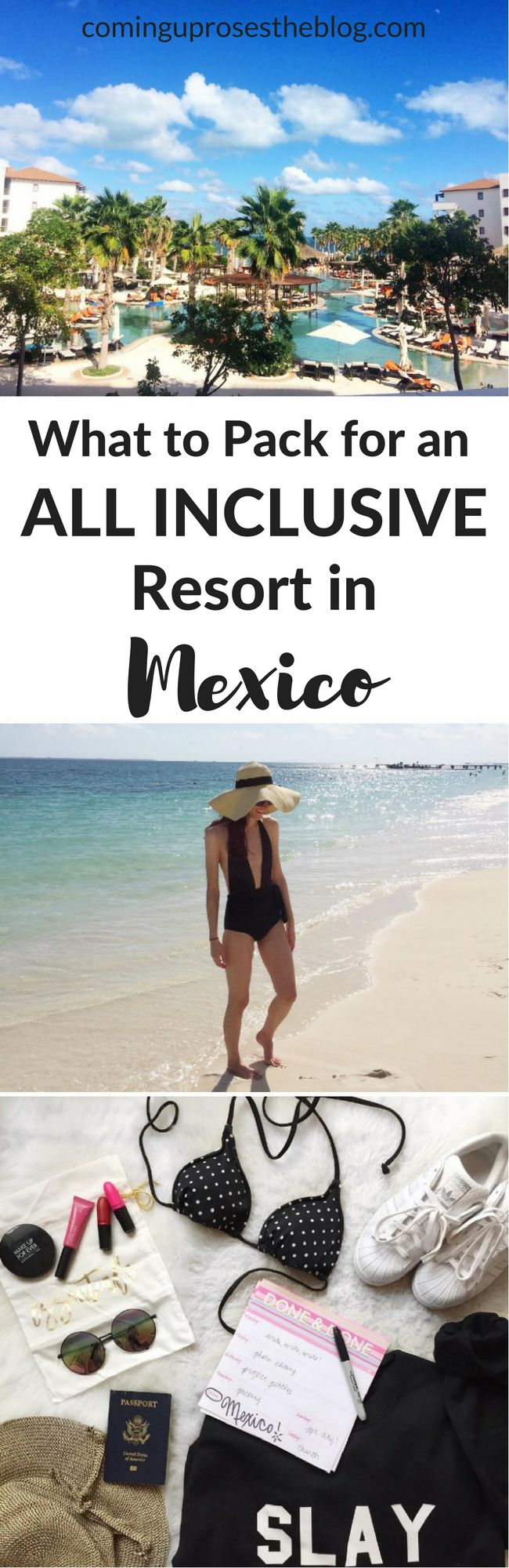 What to pack for Mexico, what NOT to pack, and what you'll likely forget to pack (but shouldn't!) for an All-Inclusive Resort in Mexico, what to pack for vacation, what to pack for mexico, what to pack for mexico all inclusive, what to pack for mexico vacation, what to pack for mexico clothes