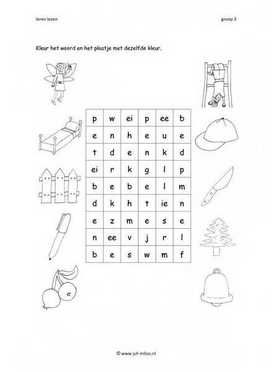 Leren lezen E kruiswoord