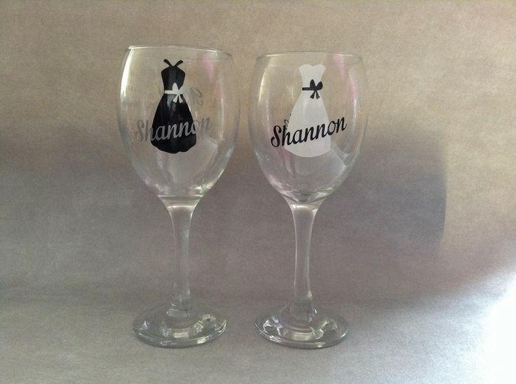 Black & White wine glasses