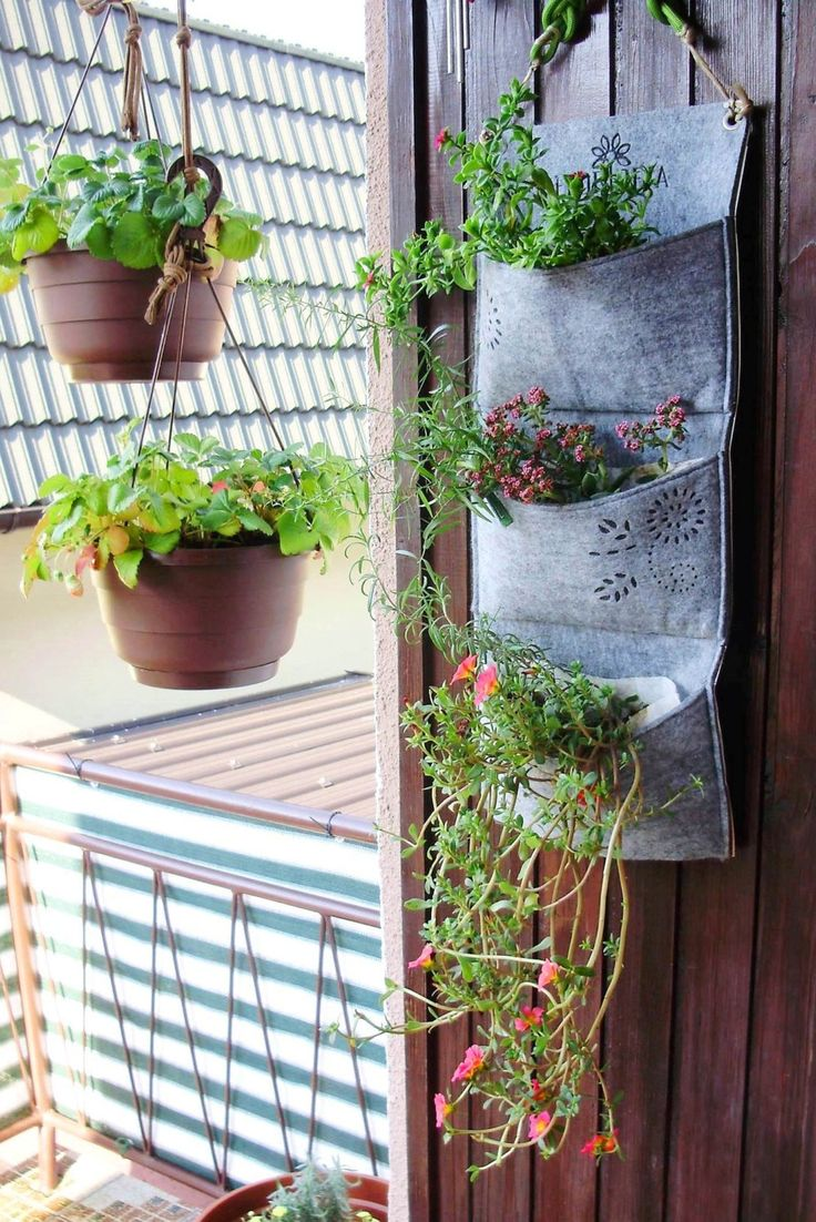 Vertical garden planter wall planter portable indoor for Balcony vertical garden