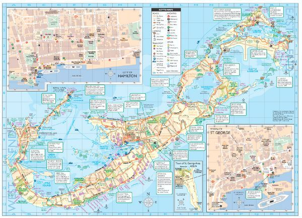 Detailed Tourist map of Bermuda | Bermuda in 2019 | Tourist map, Map on