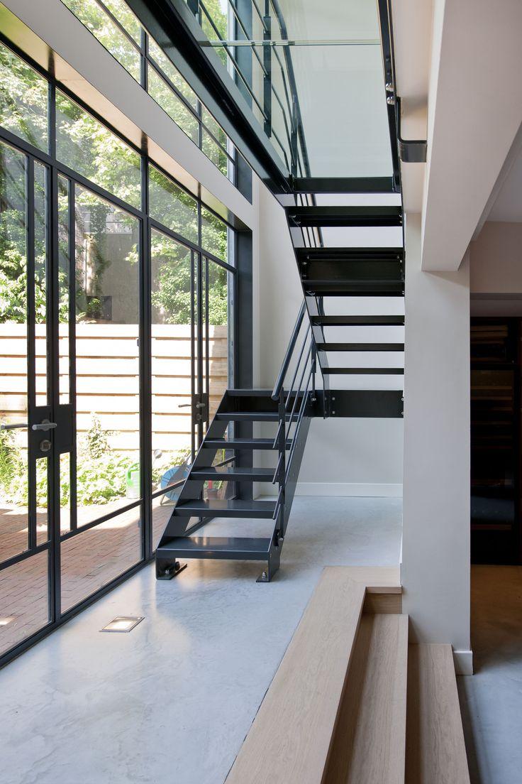 Stalen trap, Vondelstraat   Kodde Architecten