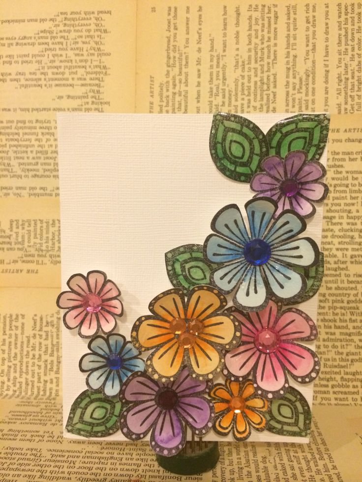 Fun Stampers Journey project featuring Flower Party stamp set, Journey Glaze And Bloom tool. www.anncorbierescott.typepad.com