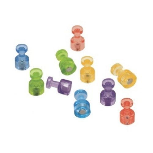 Quartet Magnetic Push Pins, Multicolored, 10 Pins per Pack (MPPCB) by Quartet, http://www.amazon.com/dp/B000V9A0Q4/ref=cm_sw_r_pi_dp_mmtNrb1AEW7XH