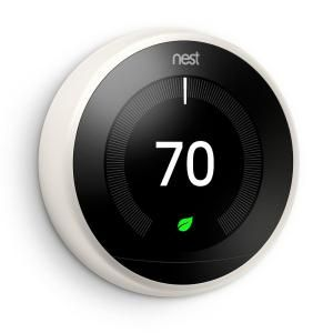 Nest 3rd Generation Learning Thermostat - White T3017US at The Home Depot - Mobile