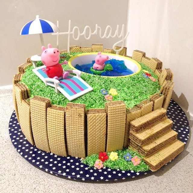 Swimming Pool Cake Ideas pool party cakes swimming pool cakes I Want A Peppa Pig Swimming Pool Cake Mummychallenge Excepted