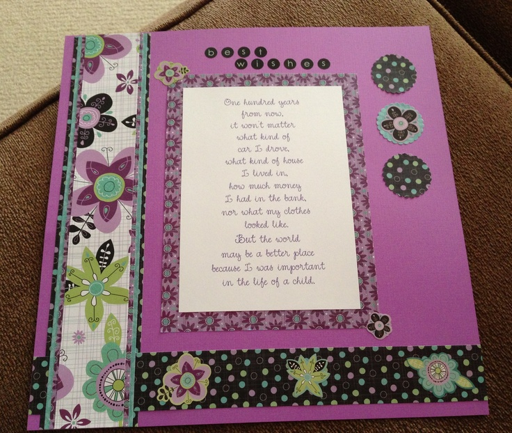 Scrapbook page (frameable) for a colleague's retirement in ...