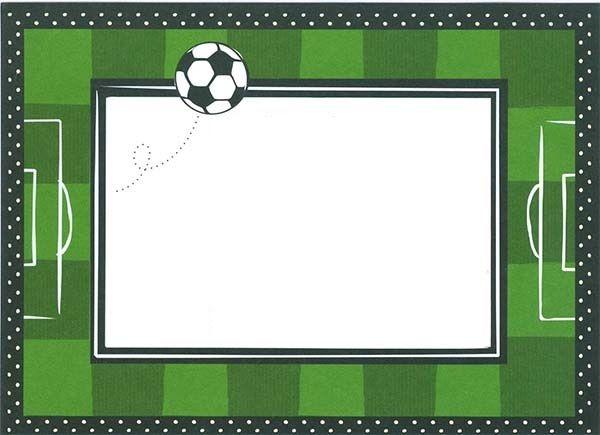 Invitaciones de cumpleaños de futbol para imprimir gratis