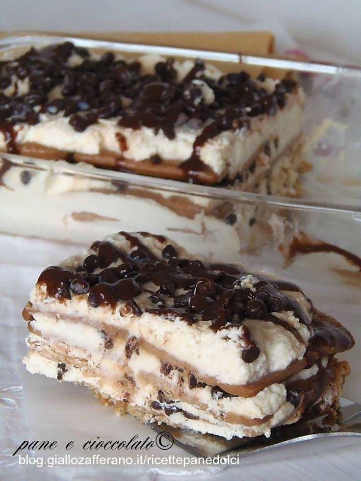 Torta biscotto panna e cioccolato al baileys
