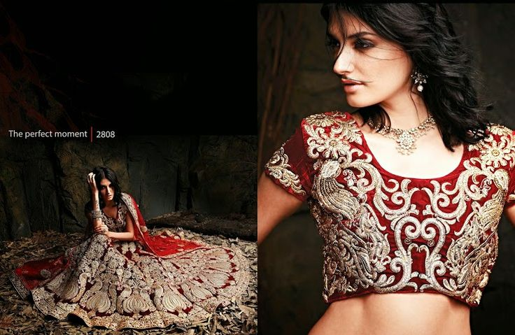 Beautiful collection of Velvet Wedding Lehenga with heavy embroidery work en-crafted in Golden Maroon color. Along with Contrast Matching Netted Duppatta and Velvet Blouse.