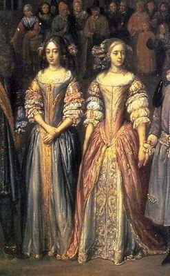 .História da Moda.: A Moda na Era Barroca O cabelo era repartido ao meio possuia cachos até o ombro, só por 1690, os cachos passaram a ser sob a testa.