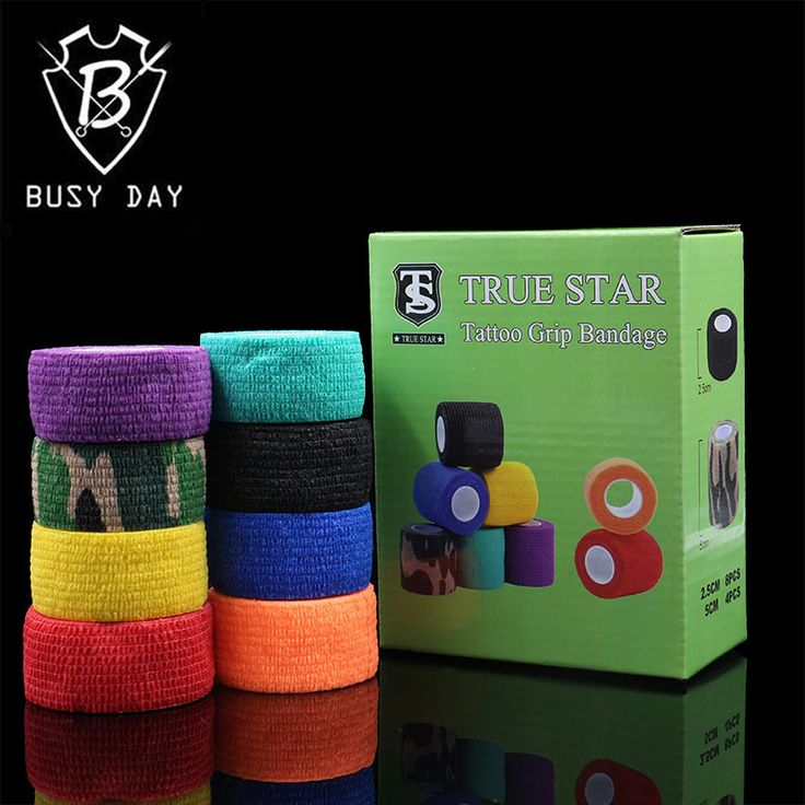 8Pcs Tattoo Grips Cover 8 Colors 25mm Bandage Grip Cover Tattoo Accessories For Tattoo Grip Tubes For Free Shipping