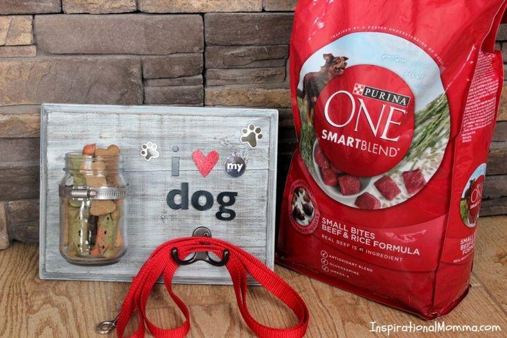 DIY Dog Treat & Leash Station Claudia Hernandez