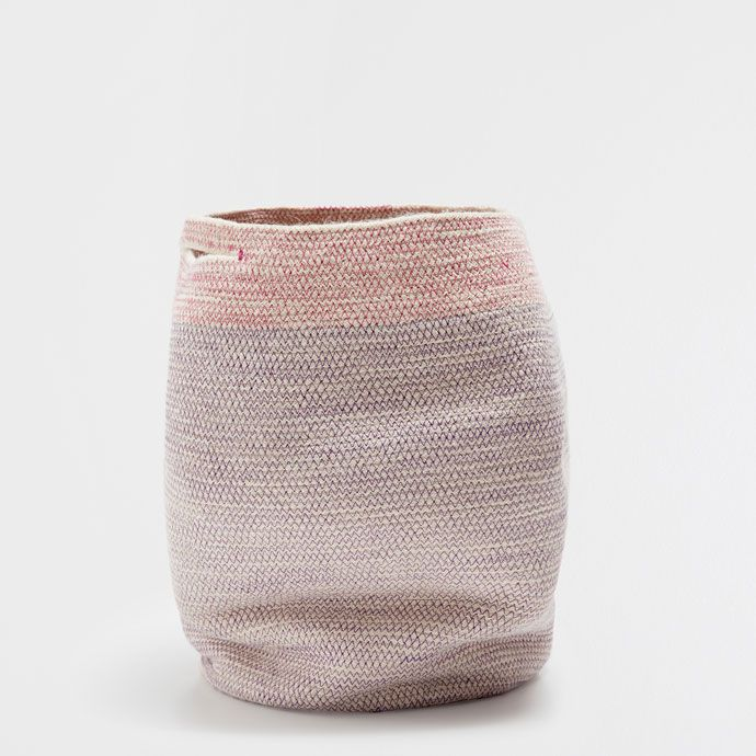 ZIGZAG-DESIGN CLOTHES BASKET WITH HANDLES - Baskets - Decoration | Zara Home Hungary