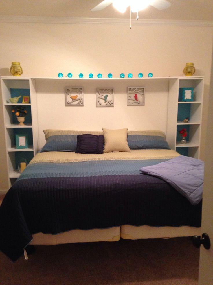 Shelf Headboard Beds Pinterest