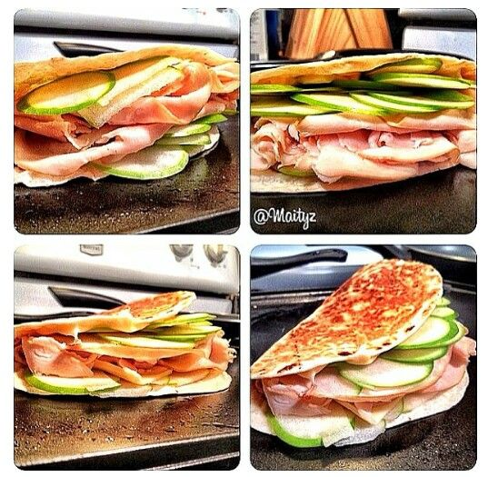 Swiss Apple & Deli Turkey Quesadilla This dish can be prepared in ...