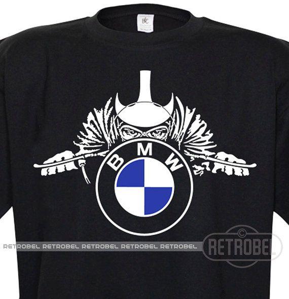 Motos BMW de T-shirt pour homme noir Cafe Racer par retrobel1
