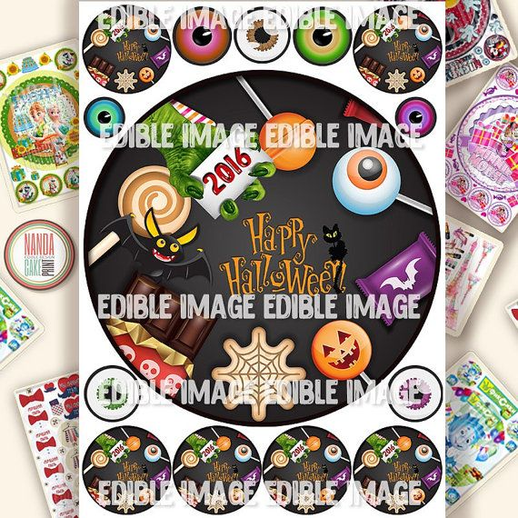 Halloween 2016 Edible Cake Topper Ising Sheet
