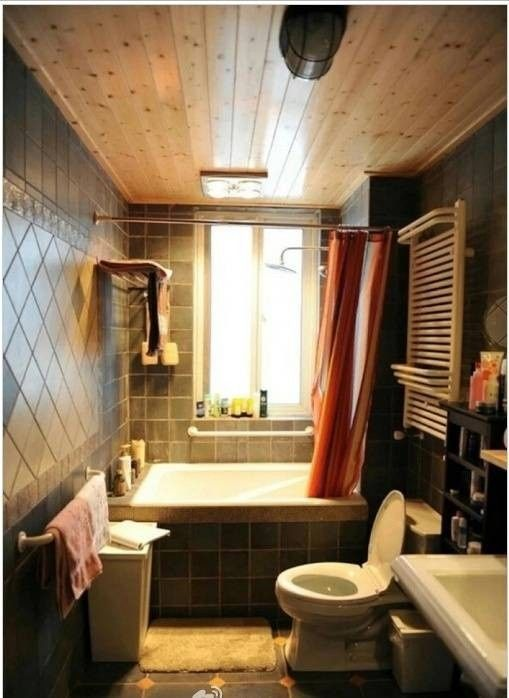 25 best ideas about small bathroom bathtub on pinterest bathtub shower combo tiny bathroom - Bathroom makeover practical refreshing ideas ...