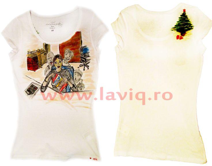 O ZI LA MUNCA CU STICKS Tricou, 100% bumbac, pictat manual in culori textile www.laviq.ro www.facebook.com/pages/LaviQ/206808016028814