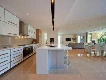 Modern kitchen-dining kitchen design using tiles - Kitchen Photo 327179