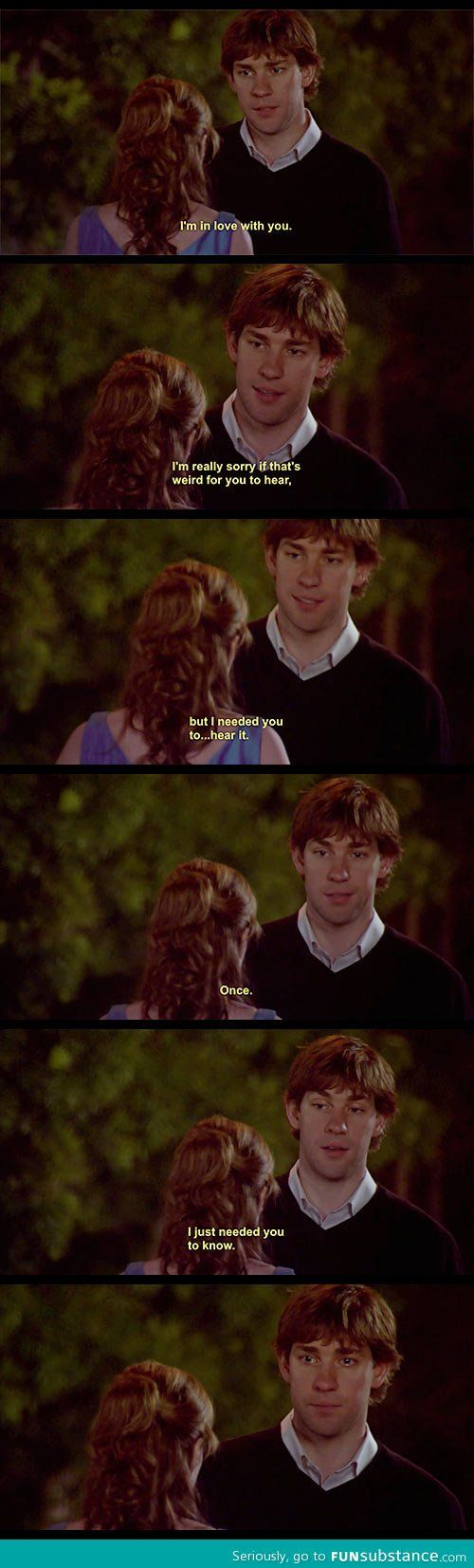 The last scene is a punch in the feels, The greatest sitcom romance of all time I think