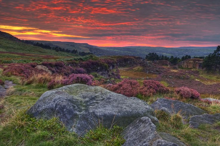 Because you can stand on Ilkley Moor of an evening and be greeted by this. | 57 Reasons Living In Yorkshire Ruins You For Life